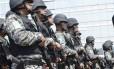 Agentes da Força Nacional de Segurança Pública: maior preocupação nas Olimpíadas é com segurança, diz ministro dos Esportes