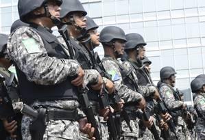 Agentes da Força Nacional de Segurança Pública: maior preocupação nas Olimpíadas é com segurança, diz ministro dos Esportes Foto: Antônio Cruz / Agência Brasil