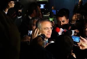 O presidente do Senado, Renan Calheiros (PMDB-AL) chega ao Congresso após a divulgação do pedido de prisão feito por Janot Foto: Jorge William / Agência O Globo / 7-6-2016