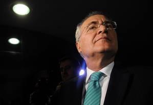 O presidente do Senado, Renan Calheiros (PMDB-AL): um dos alvos do pedido de prisão do procurador-geral Rodrigo Janot Foto: Andressa Anholete / AFP / 7-6-2016