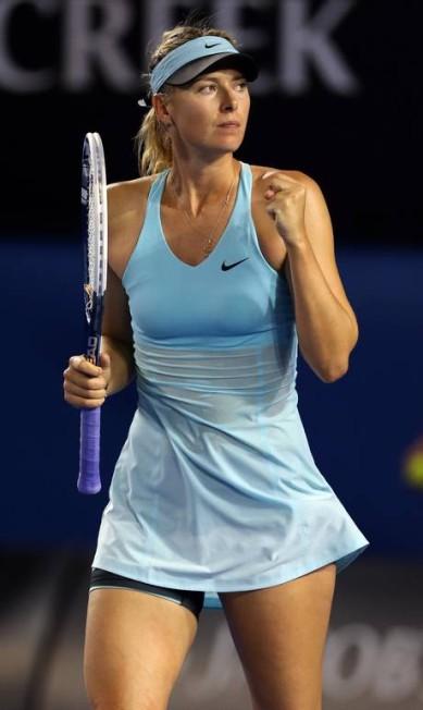 Maria Sharapova comemora vitória no Aberto da Austrália em 2014. Dois anos depois, no mesmo torneio, ela testou positivo para substância proibida Rick Rycroft / AP