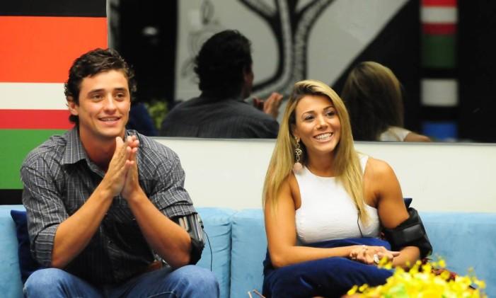 """Fael com Fabiana, que também foi finalista do """"BBB 12"""" Foto: Frederico Rozário / TV Globo"""