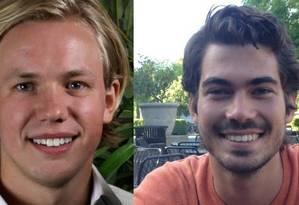 Carl-Fredrik Arndt e Peter Jonssondetiveram o estuprador Foto: Reprodução Facebook e Linkedin