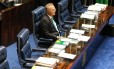 O presidente do Senado, Renan Calheiros (PMDB-AL): um dos alvos do pedido de prisão