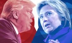 Trump x Hillary Foto: O Globo
