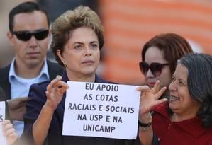 Presidente afastada Dilma Rousseff esteve em Campinas nesta quinta-feira Foto: Agência O Globo/Pedro Kirilos
