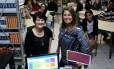 Clara (à esquerda) e Vania comandam o projeto na escola Professora Maria Terezinha de Carvalho Machado