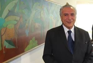 O presidente interino, Michel Temer Foto: Ailton de Freitas / Agência O Globo / 10-6-2016
