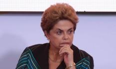 A presidente afastada Dilma Rousseff Foto: André Coelho / Agência O Globo / 3-5-2016