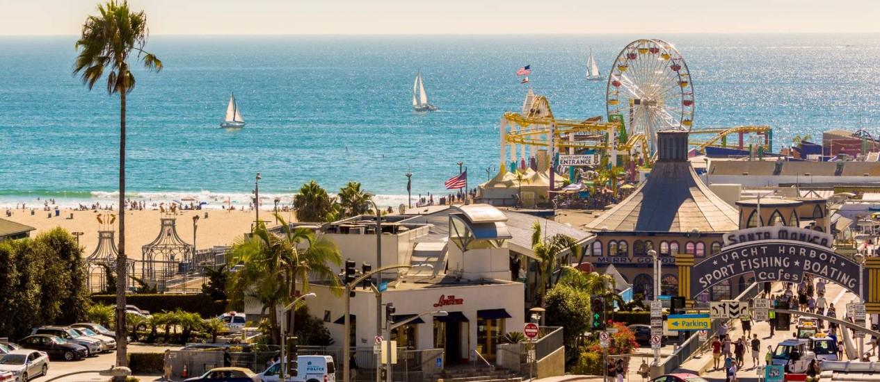 O lendário pier de Santa Monica, fim da Rota 66 Foto: Joakim-Lloyd-Raboff