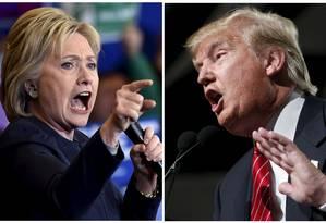 Democrata Hillary Clinton (esquerda) e republicano Donald Trump disputarão Presidência americana em novembro Foto: STAFF / REUTERS