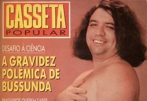 Humor. A edição número 45 da revista Casseta Popular, em 1991, trouxe Bussunda na Capa Foto: Sem data / Divulgação