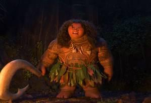 O semideus Maui, da animação 'Moana' Foto: Reprodução