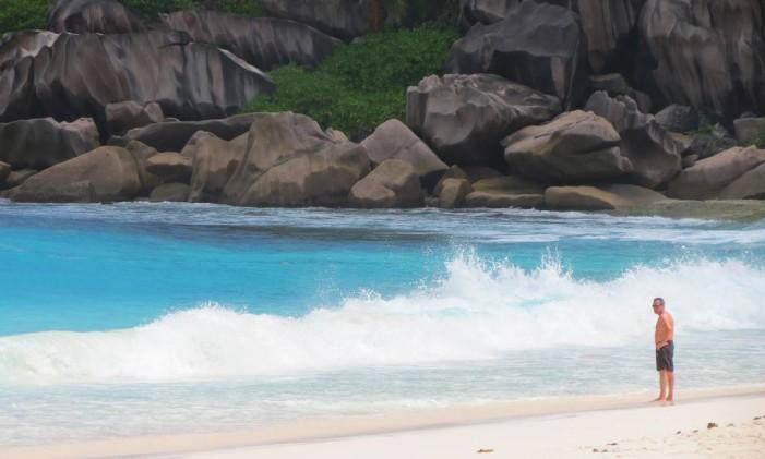 Praia La Digue, em Grand Anse, Ilhas Seychelles Foto: Rafael Galdo / O Globo