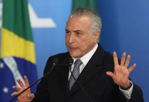 Presidente Interino, Michel Temer Foto: ANDRE COELHO / Agência O Globo