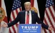 Donald Trump em campanha em Tampa, Flórida