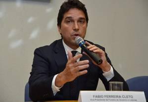 Ex-vice-presidente da CEF, Fábio Cleto disse que a propina era negociada por Cunha Foto: Valter Campanato/ABr