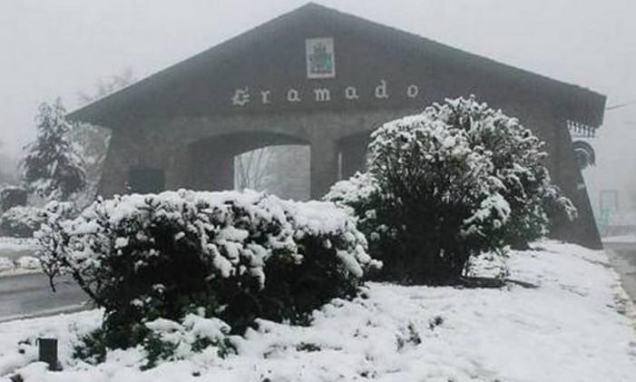 Pórtico de Gramado, no Rio Grande do Sul Foto: @mandsteinmetz / Instagram / Reprodução