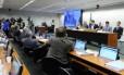 Parlamentares reunidos no Conselho de Ética da Câmara