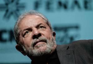 O ex-presidente Luiz Inácio Lula da Silva Foto: Yasuyoshi Chiba / AFP / 6-6-2016