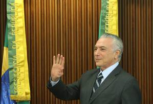 Michel Temer, presidente interino Foto: ANDRE COELHO / Agência O Globo
