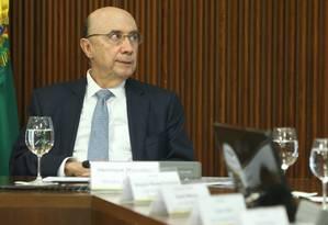 O ministro da Fazenda, Henrique Meirelles Foto: ANDRE COELHO / Agência O Globo