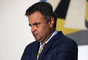 O senador Aecio Neves (PMDB-MG) Foto: Edilson Dantas / Agência O Globo / 28-4-2016