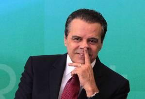 O ministro do Turismo, Henrique Eduardo Alves Foto: Jorge William / Agência O Globo / 16-4-2015