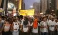 Protesto de estudantes pela abertura de CPI para investigar e punir envolvidos na máfia da merenda.