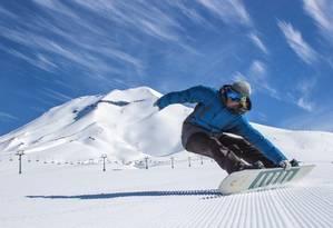 Snowboard é uma atividade de risco e o seguro deve cobrir acidentes que possam ser causados pela prática do esporte Foto: Divulgação / Divulgação