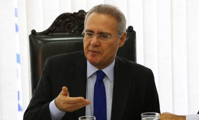 O presidente do Senado, Renan Calheiros (PMDB-AL) Foto: Ailton de Freitas / Agência O Globo / 15-6-2016