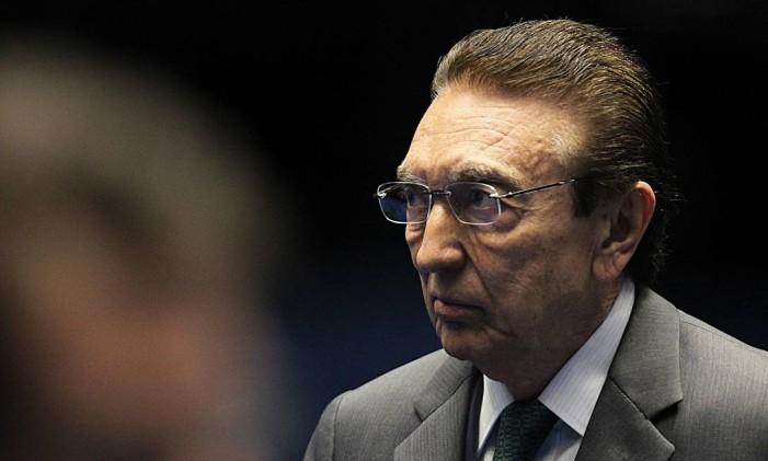 O senador Edison Lobão (PMDB-MA) Foto: Jorge William / Agência O Globo / 28-4-2016