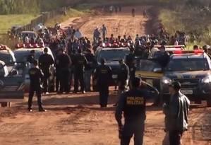 Confronto deixou um índio morto e outros seis feridos Foto: Reprodução/TV Morena