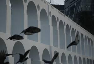 Os Arcos da Lapa Foto: Guilherme Leporace / Agência O Globo