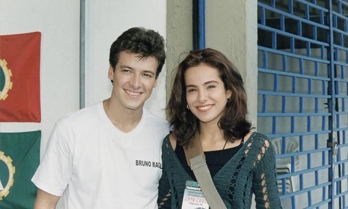 Rodrigo Faro e Cássia Linhares: casal de 'Malhação' em 1998 Foto: Divulgação/TV Globo