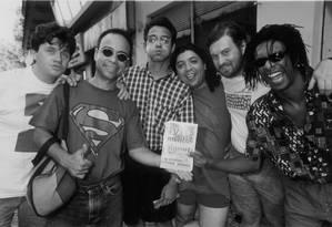 Os Cassetas em 1994 Foto: Marizilda Cruppe / Agência O Globo