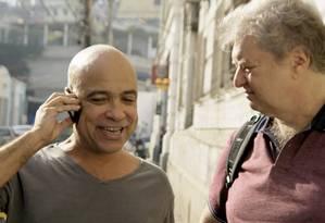 Cláudio Manoel e Beto Silva em cena de 'Procurando Casseta & Planeta' Foto: Divulgação