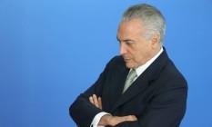 O presidente interino Michel Temer Foto: André Coelho / Agência O Globo / 16-6-2016