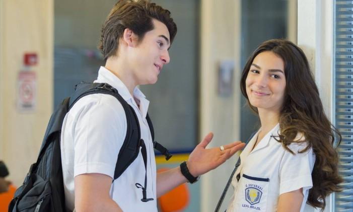 Rodrigo (Nicolas Prattes) e Luciana (Marina Moschen) na 'Malhação' de 2016. Foto: Caiua Franco / Divulgação