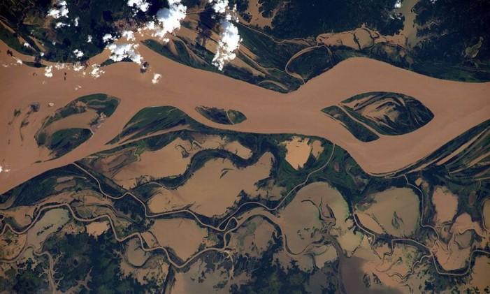 Rio Tapajós Foto: TIM PEAKE/ESA/NASA