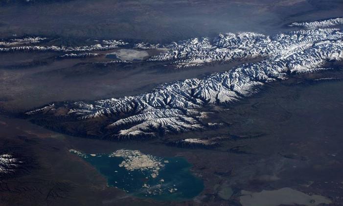 Rússia, Mongólia e Cazaquistão Foto: TIM PEAKE/ESA/NASA