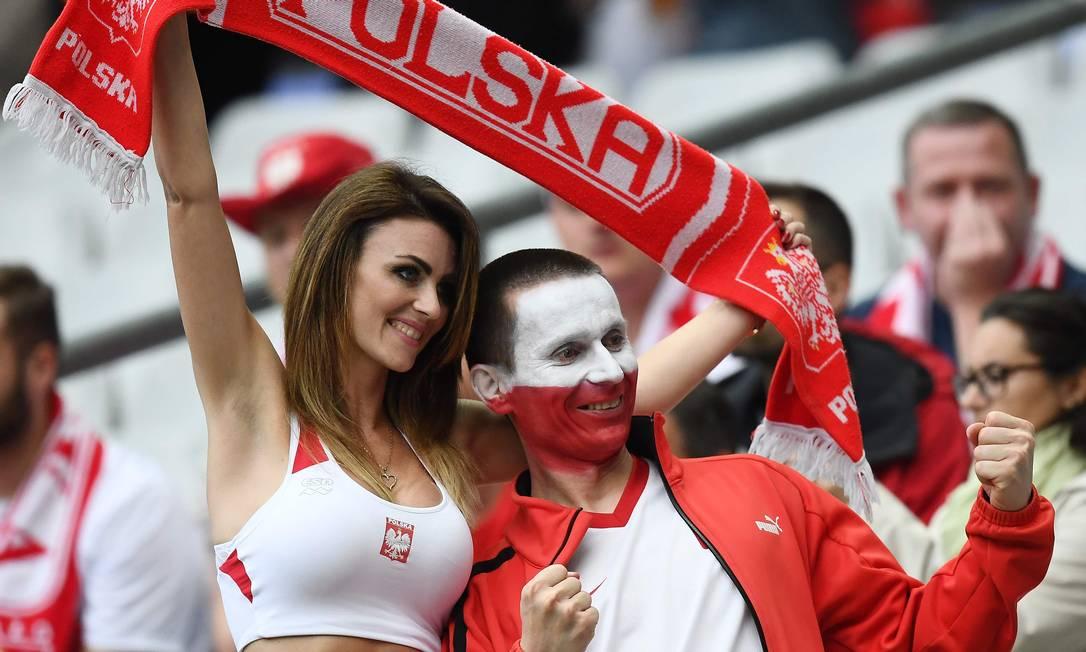 Os poloneses estão empolgados com a sua seleção FRANCK FIFE / AFP