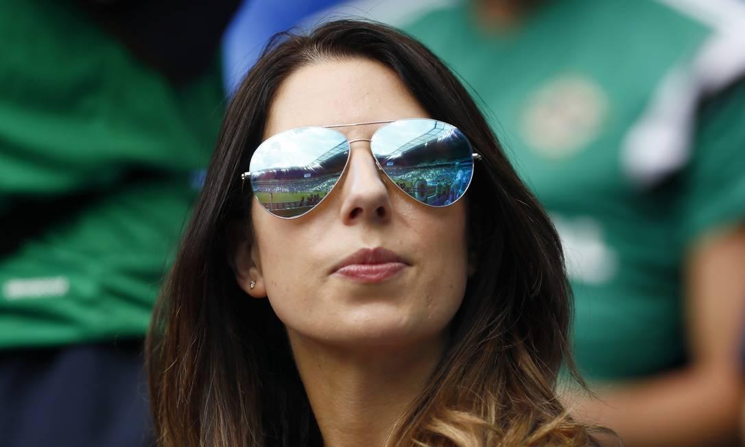 Uma torcedora da Irlanda do Norte durante a partida contra a Ucrânia Jason Cairnduff / REUTERS