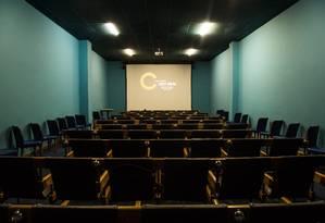 Sala de cinema da Escola Darcy Ribeiro Foto: Barbara Lopes / Agência O Globo