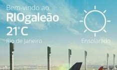 Aplicativo do Rio Galeão Foto: Reprodução