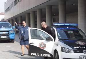 Polícia Civil periciou hospital neste domingo Foto: ANTONIO SCORZA / Agência O Globo
