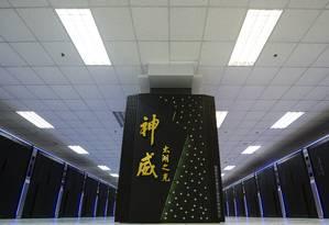 Computador chinês é cinco vezes mais rápido que máquina americana Foto: Li Xiang / AP