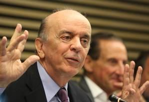 O ministro José Serra participa de encontro na Fiesp Foto: Marcos Alves