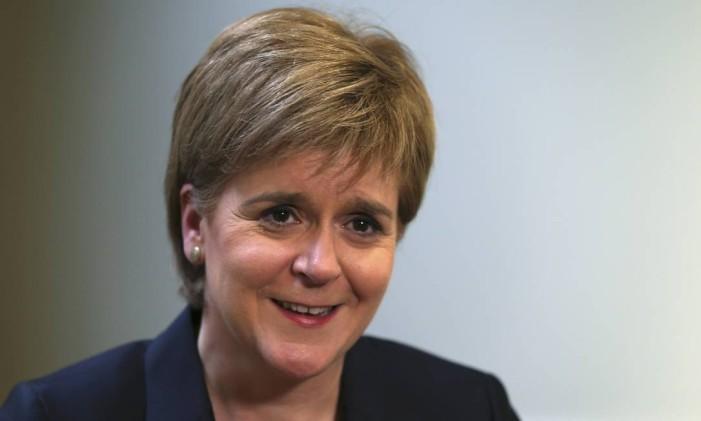 A chefe de governo da Escócia, Nicola Sturgeon, afirmou que a vitória do Brexit pode provocar uma segunda consulta popular, sobre a independência da Escócia Foto: RUSSELL CHEYNE / REUTERS