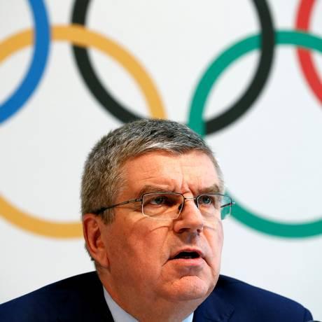 Thomas Bach garantiu que o Comitê Olímpico Internacional não fará autorizações especiais para atletas russos competirem na Rio-2016 Foto: DENIS BALIBOUSE / REUTERS